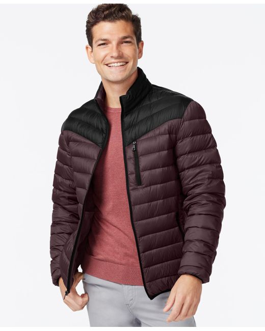 INC International Concepts   Purple Color-blocked Down Packable Jacket for Men   Lyst