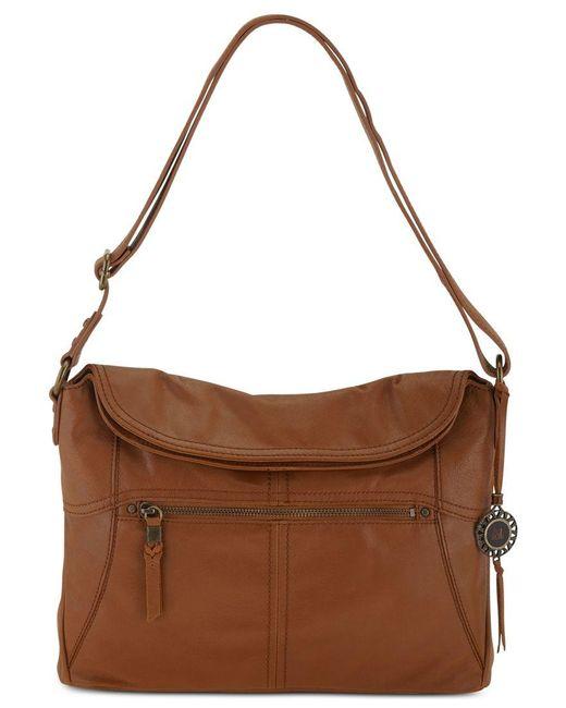 The Sak   Brown Esperato Flap Leather Hobo Bag   Lyst