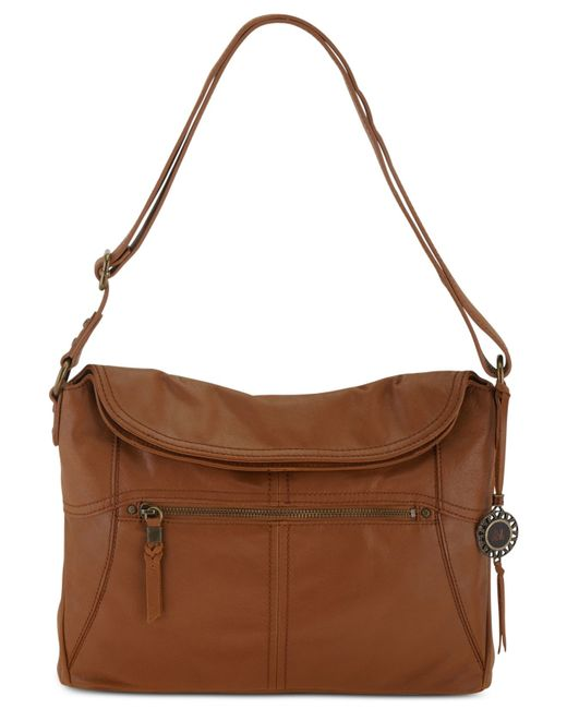The Sak | Brown Leather Flap Shoulder Bag | Lyst