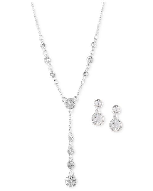 Anne Klein | Metallic Silver-tone Crystal Jewelry Set | Lyst