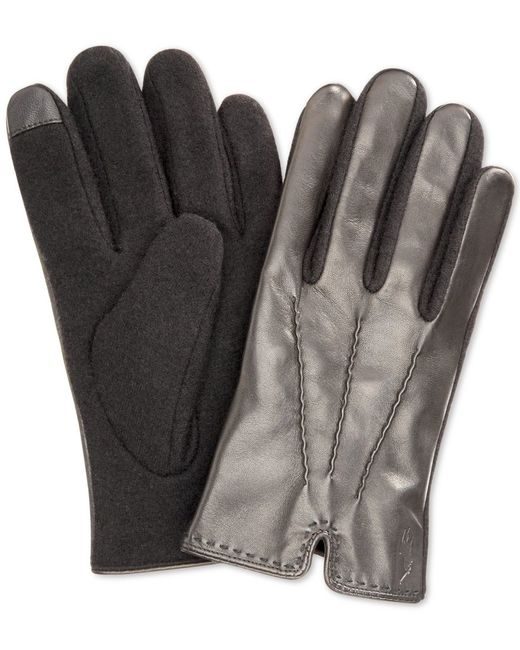 Polo Ralph Lauren   Black Hand-stitched Nappa Touch Glove for Men   Lyst