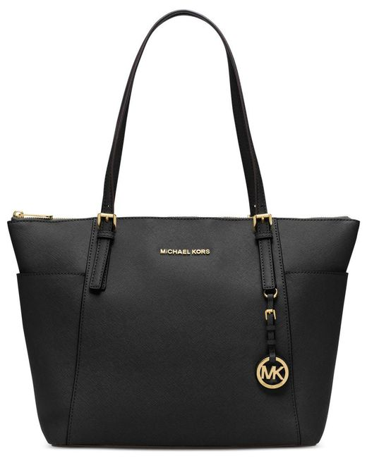 Michael Kors | Black Michael Jet Set Item Large East West Top Zip Tote | Lyst