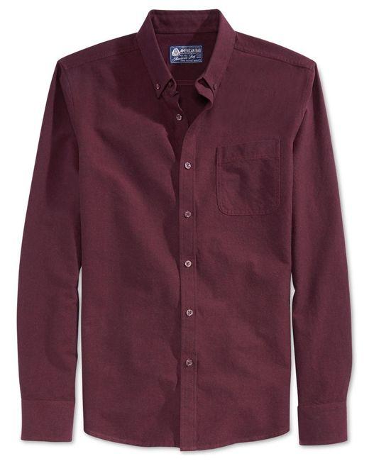 American Rag | Red Men's Oxford Shirt for Men | Lyst