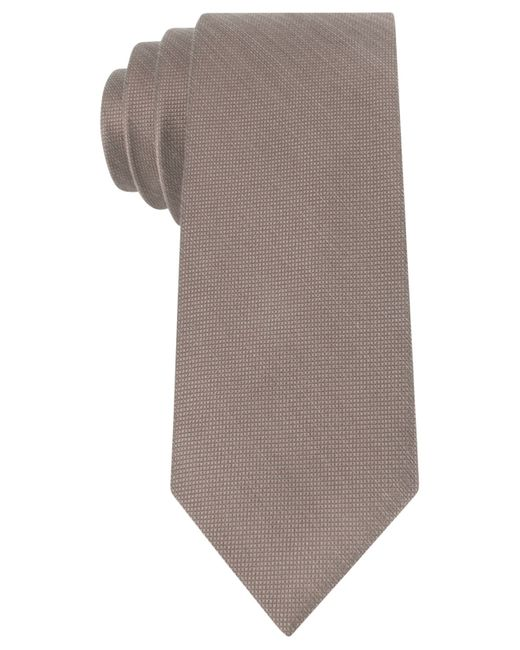 Michael Kors | Brown Luxe Variation Solid Slim Tie for Men | Lyst