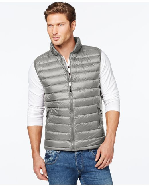 32 Degrees | Metallic Packable Down Vest for Men | Lyst