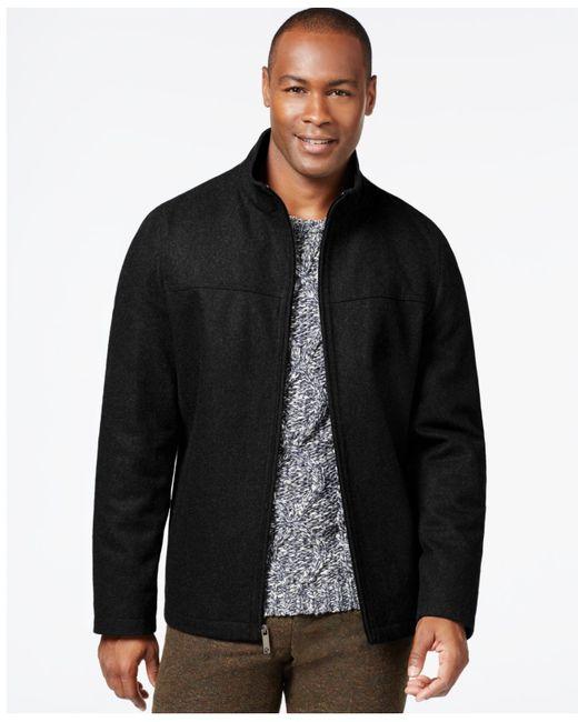 Perry Ellis | Black Wool-blend Zip-front Jacket for Men | Lyst