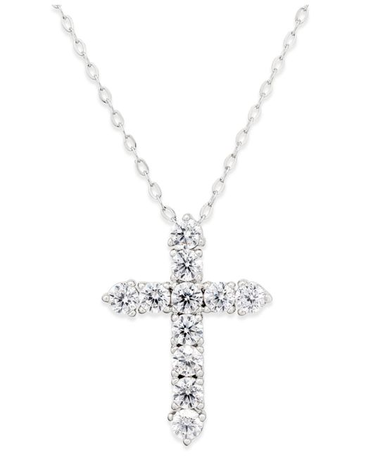 Danori | Metallic Silver-tone Crystal Cross Pendant Necklace | Lyst