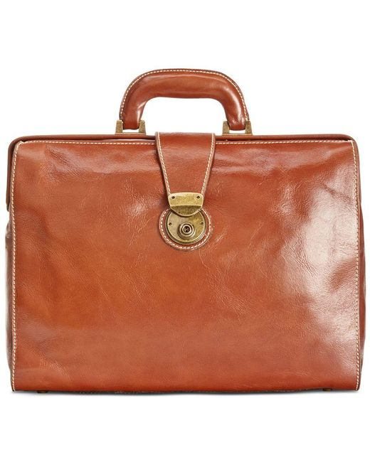 Patricia Nash | Brown Nash Men's Heritage Leather Slim Briefcase | Lyst