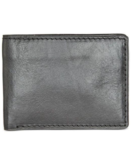 Patricia Nash   Black Nash Men's Heritage Leather Double Billfold Id Wallet   Lyst