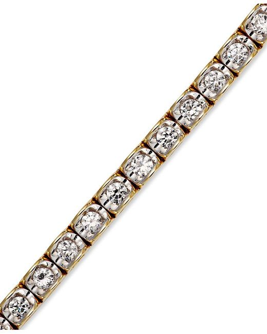 Macy's | Metallic Diamond Bracelet In 14k Yellow Or White Gold (2 Ct. T.w.) | Lyst