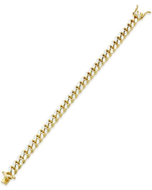 Macy's | Metallic Diamond Tennis Bracelet (4 Ct. T.w.) In 14k White Gold | Lyst