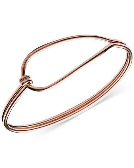 Skagen | Pink Annette Rose Gold-Tone Hinged Loop Bracelet | Lyst