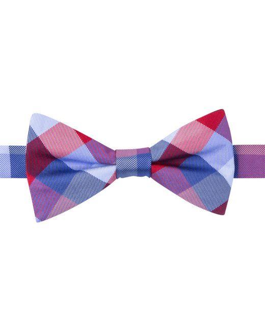 Tommy Hilfiger Red Buffalo Tartan Bow Tie for men