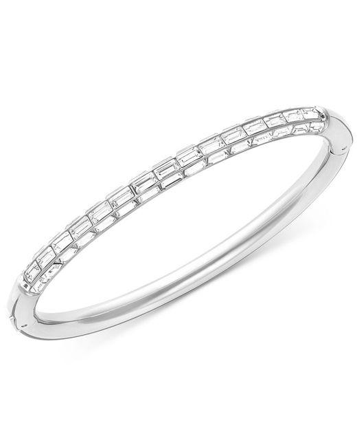 Swarovski   Metallic Domino Rhodium-plated Crystal Bangle Bracelet   Lyst