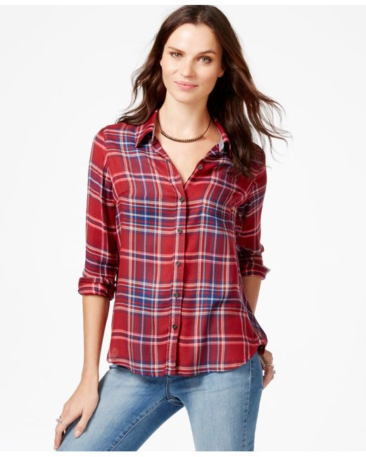 Lucky Brand | Multicolor Long-sleeve Plaid Shirt | Lyst