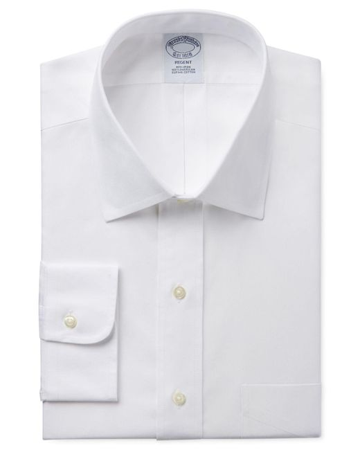 Brooks Brothers | White Classic Fit Non-iron Pinpoint Solid Dress Shirt Product for Men | Lyst
