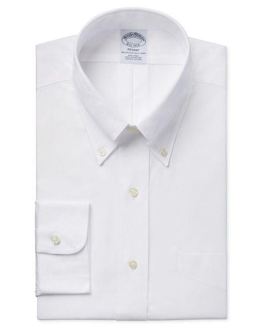 Brooks Brothers   White Classic Fit Non-iron Pinpoint Solid Dress Shirt for Men   Lyst