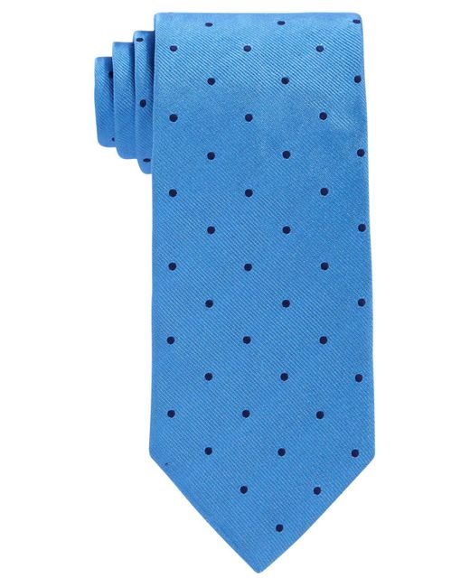 Brooks Brothers | Blue Repp Dot Tie for Men | Lyst