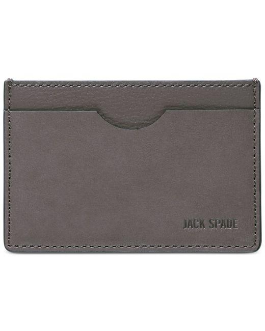 Jack Spade   Gray Grant Leather Credit Card Holder for Men   Lyst
