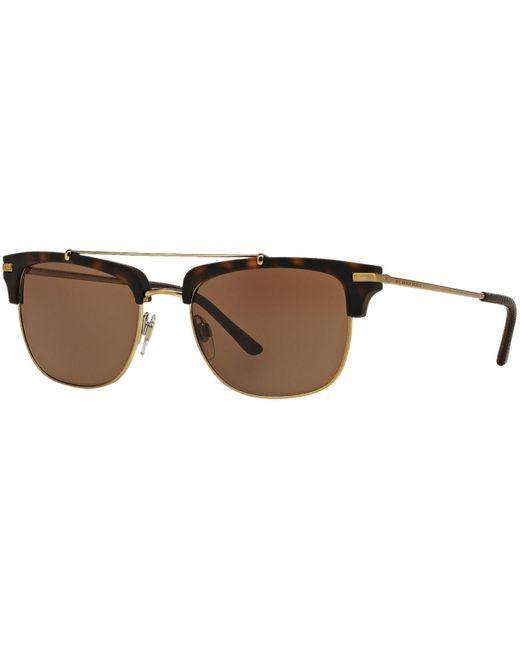 Burberry | Metallic Sunglasses, Be4202q 54 for Men | Lyst