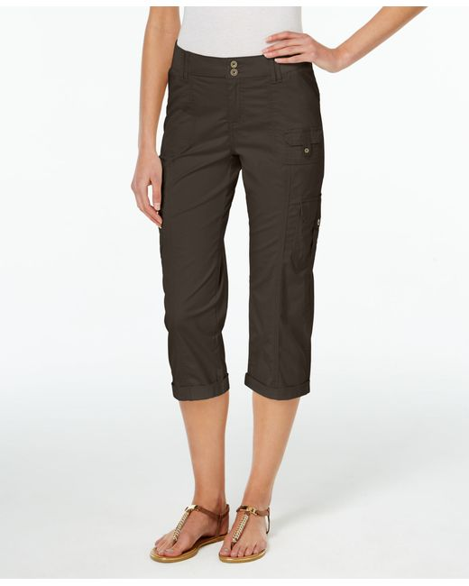 Awesome Home Womens All Cropped Cargo Pants