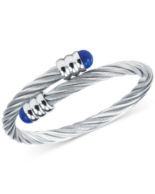 Charriol | Metallic Women's Celtic Lapis Lazuli-accent Stainless Steel Cable Bangle Bracelet 04-01-1165-6 | Lyst
