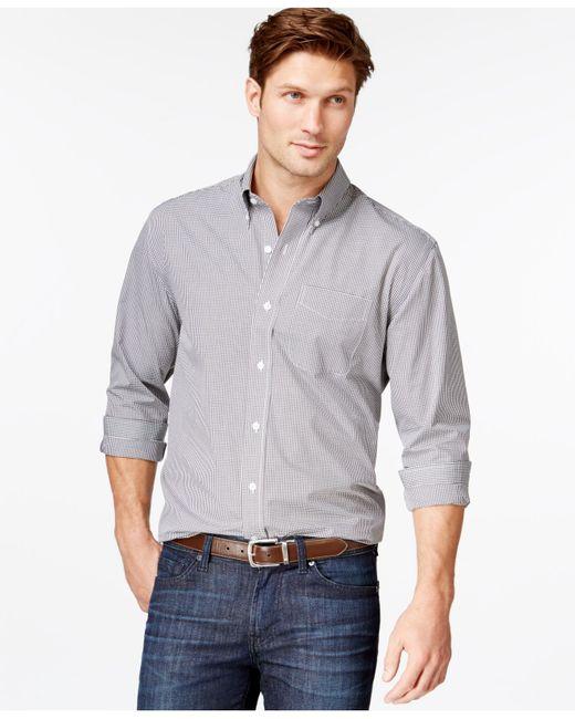 Cutter & Buck | Gray Epic Gingham Button-down Shirt for Men | Lyst