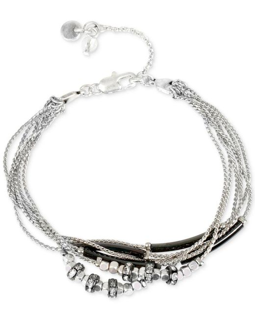 Kenneth Cole | Metallic Two-tone Crystal Bracelet | Lyst
