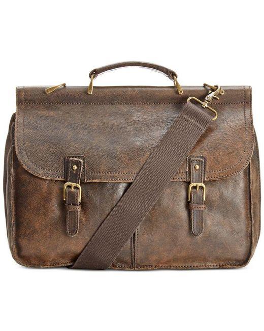 Patricia Nash   Brown Nash Men's Leather Dowel Briefcase   Lyst