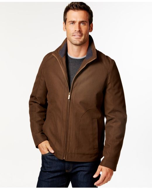 London Fog   Brown Big And Tall Oxford Hipster Jacket for Men   Lyst