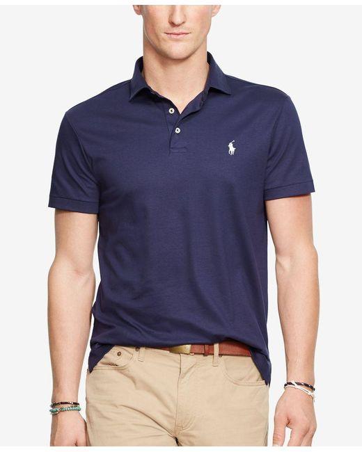 Polo Ralph Lauren | Blue Pima Cotton Soft-touch Shirt for Men | Lyst