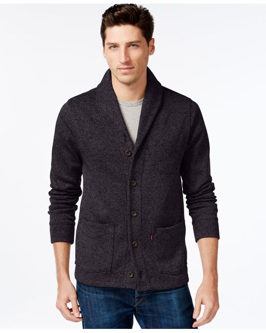 Levi's | Black Rand Shawl-collar Cardigan for Men | Lyst