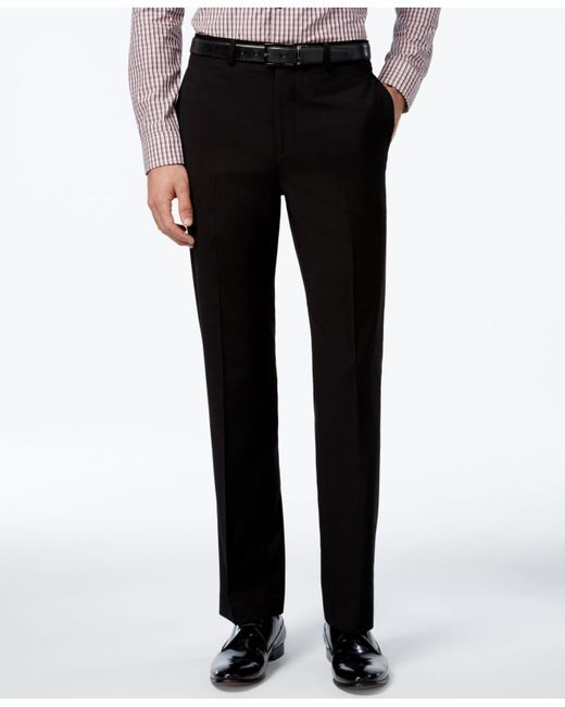 Calvin Klein | Black Solid Slim-fit Dress Pants for Men | Lyst
