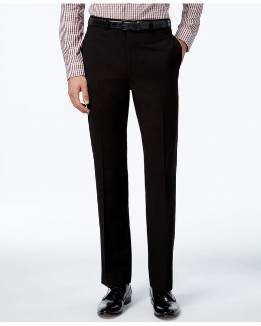 Calvin Klein   Black Slim-fit Solid Dress Pants for Men   Lyst