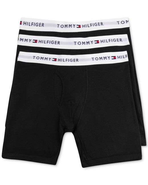 Tommy Hilfiger | Black Underwear, 4 Pack Athletic Boxer Brief for Men | Lyst