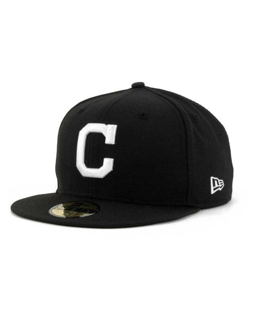 KTZ - Black Cleveland Indians B-dub 59fifty Fitted Cap for Men - Lyst