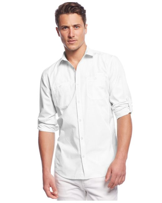 INC International Concepts | White Work Striped Shirt for Men | Lyst