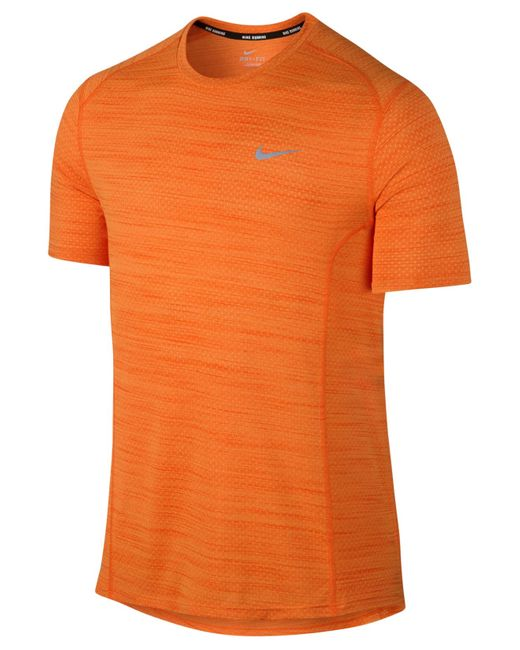 Nike Men 39 S Dri Fit Cool Miler Running T Shirt In Orange