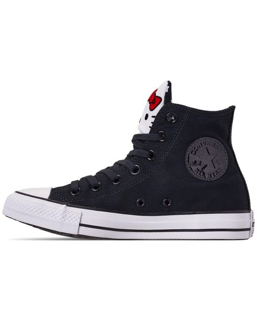 3537345997ac ... Converse - Black Unisex Chuck Taylor High Top Hello Kitty Casual  Sneakers From Finish Line ...