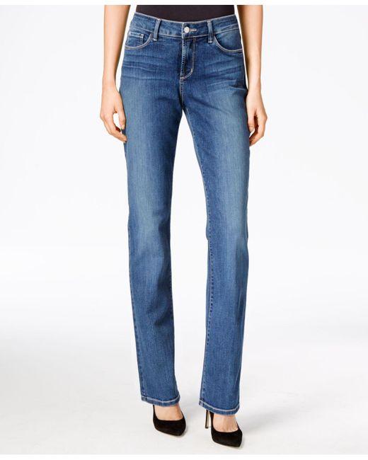 NYDJ - Blue Marilyn Tummy-control Straight-leg Jeans - Lyst