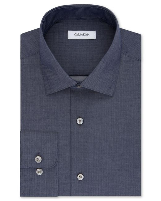 Calvin Klein | Blue Steel Men's Classic Fit Non-iron Performance Solid Dress Shirt for Men | Lyst