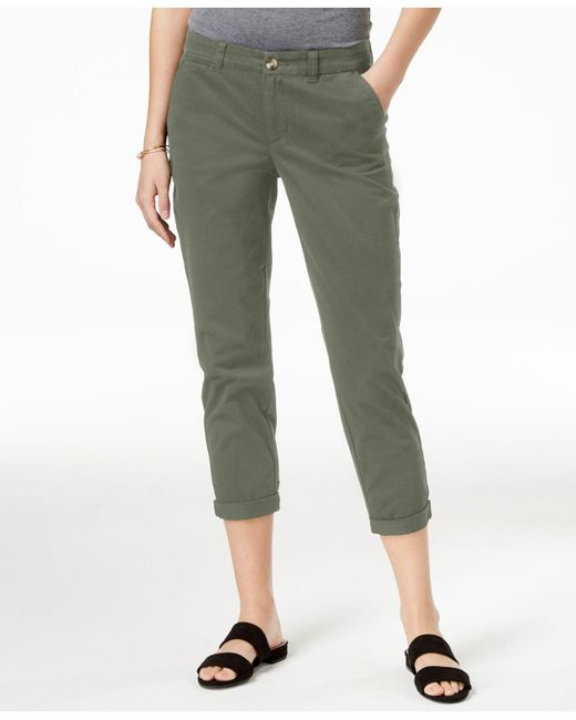 Maison Jules - Green Slim Ankle Pants, Created For Macy's - Lyst