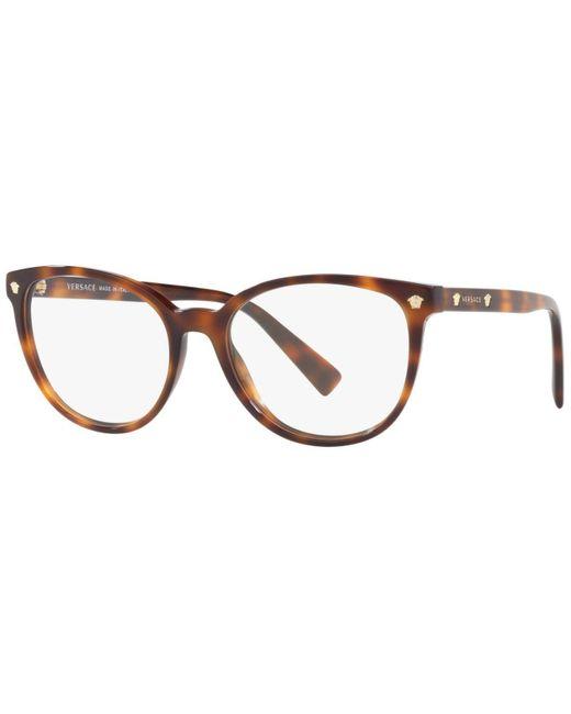 Versace Brown Round Eyeglasses