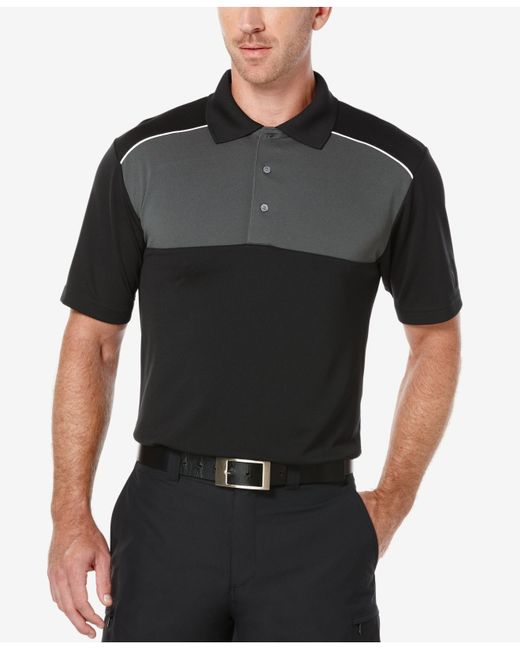 pga tour men u0026 39 s colorblocked airflux golf polo shirt in