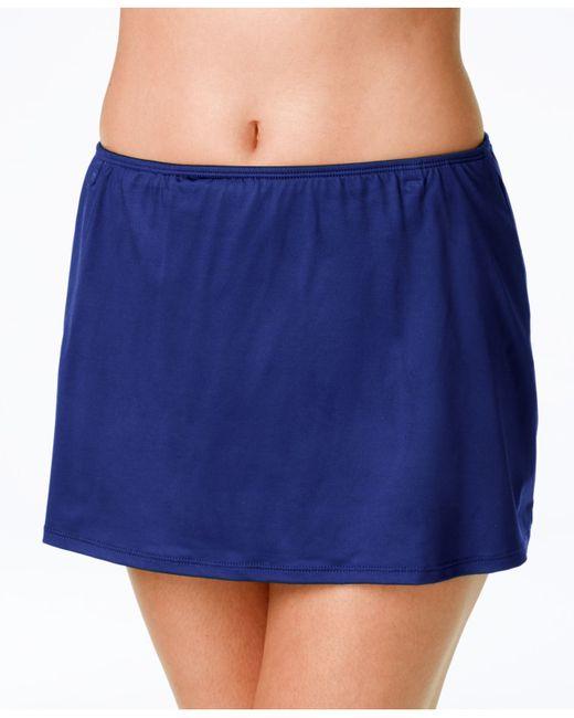 24th swim skirt in blue navy save 25 lyst