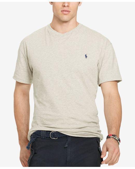 Polo ralph lauren big tall men 39 s jersey v neck t shirt for Mens tall v neck t shirts