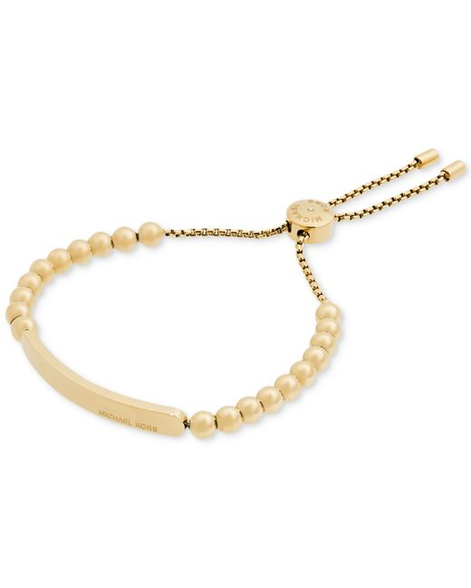 Michael Kors | Metallic Pave Beaded Slider Bracelet | Lyst