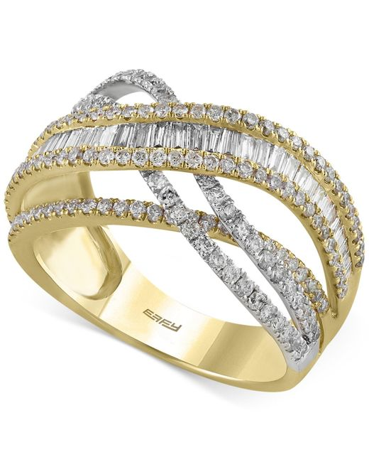 Effy Collection | Multicolor Diamond Ring (1-3/8 Ct. T.w.) In 14k Gold And White Gold | Lyst
