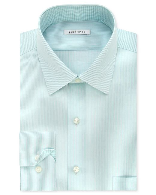 Van heusen men 39 s classic fit non iron striped mint dress for Van heusen iron free shirts