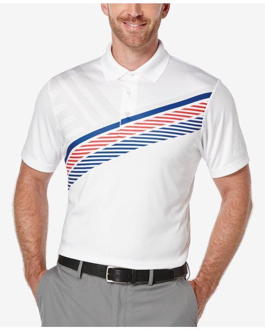 Pga Tour Men 39 S Striped Golf Polo Shirt In White For Men